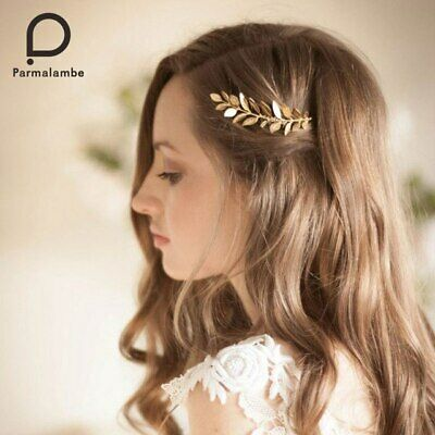 Wedding hair bride Accessories Gold Comb piece Clip Pin Bridal pearl formal
