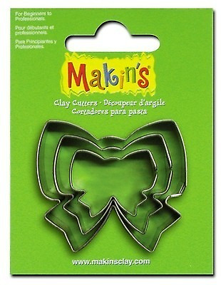 Makins Clay & Cookie Cutters - Ribbon shape (Set of three) Cake Fondant