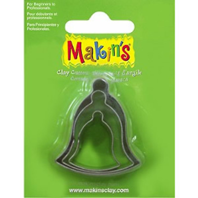 Makins Clay & Cookie Cutters -BELL (Set of 3) cake Fondant