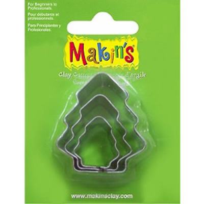 Makins Clay & Cookie Cutters - TREE shape (Set of 3) cake Fondant