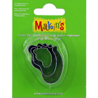 Makins Clay & Cookie Cutters - BABY FOOT shape (Set of 3) cake Fondant