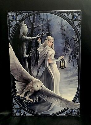 "Anne Stokes "" Midnight Messenger"" Large Ceramic Tile Collectable"