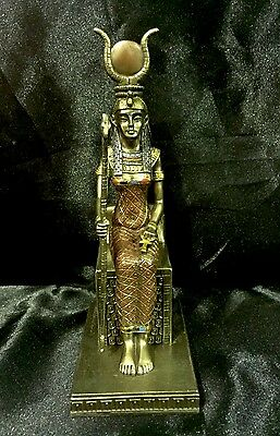 Bronze Coated Cold Cast Statue Of Ancient Egyptian Goddess ISIS 18cm  High