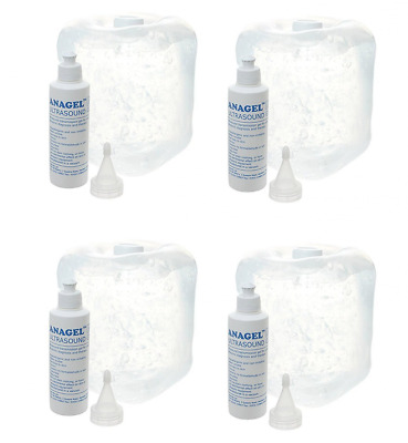 Anagel Ultrasound Gel Bottle 5L With Spare 250ml (4 Pack)
