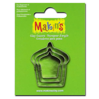 Makins Clay & Cookie Cutters -CAKE (Set of 3) cake Fondant