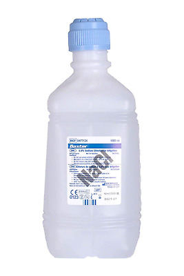 Baxter NaCl 0.9% Sodium Chloride (Saline) For Irrigation. One Litre (1000ml).
