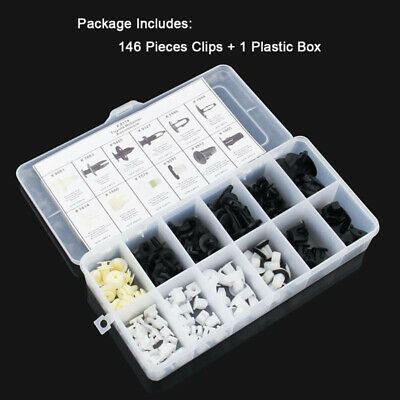 146PCS Car Trim Body Clips Kit Rivet Retainer Door Panel Bumper Plastic Fastener