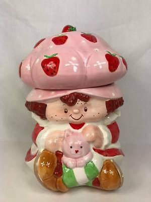 Vintage Strawberry Shortcake Extremely RARE 1983 Ceramic Cookie Jar Canister