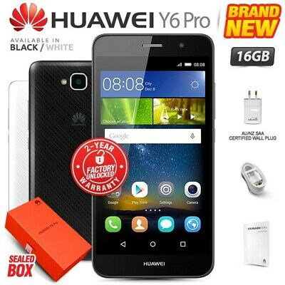New & Sealed Factory Unlocked HUAWEI Y6 Pro Black White 16GB Android Smartphone