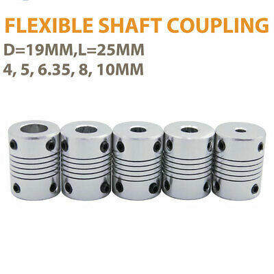 Flexible Shaft Coupling Coupler Stepper Motor CNC 3D Printer 4/5/6.35/8/10mm