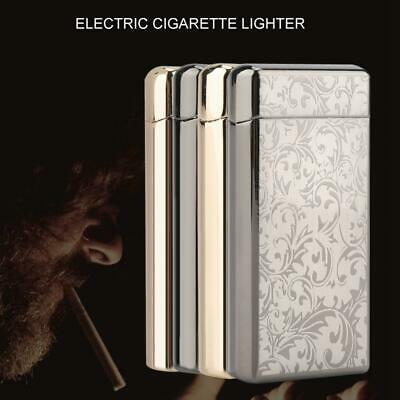 Metal Lighter Electric Rechargeable Double Arc Windproof Flameless Plasma Torch