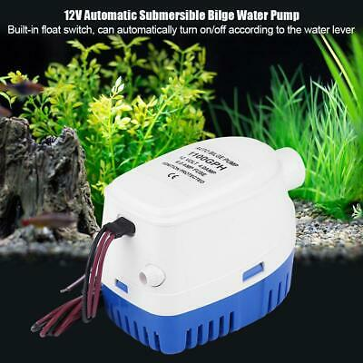 12V 1100GPH Automatic Submersible Bilge Pump Fully Auto Float Switch Internal
