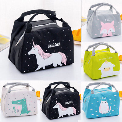5703380815 Unicorn Women Girls Kids Portable Insulated Lunch Bag Box Picnic Tote Cooler