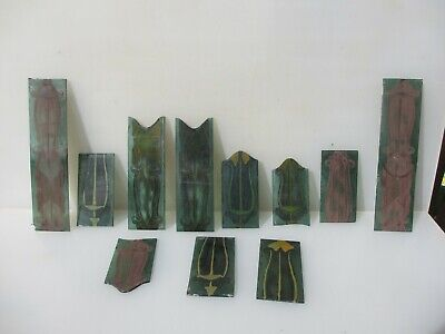 Antique Stained Glass Window Panels Old Leaded Victorian Georgian Adam Husks