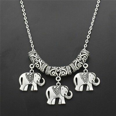 New Elephant Animal Silver Plated Elephants Pendant Necklace Jewelry
