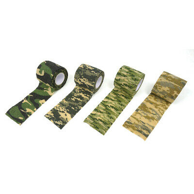 4Pcs Army Camo Wrap Camping Shooting Hunting Camouflage Stealth Webbin CYT
