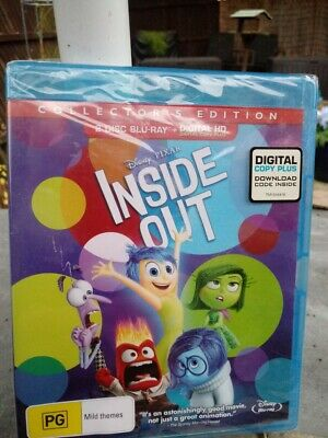 Inside Out - Blu-ray, 2 Disc Collector's Edition - Region Free [New & Unsealed]