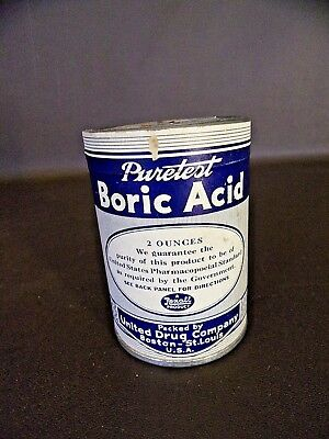 Vintage Boric Acid 2 Ounce Container (Full) (Cat.#15A056)