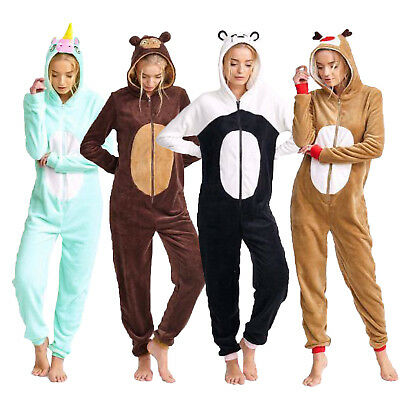 Brave Soul Womens Novelty Animal All In One Loungewear Jumpsuits Pyjamas Costume