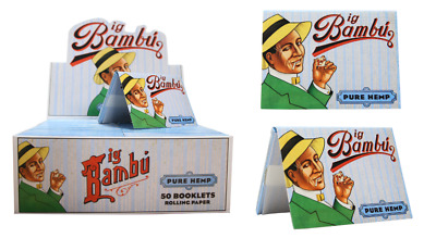 Big Bambu Pure Blue 1 1/2 Size - Box 50 Packs - Natural Glue Rolling Papers
