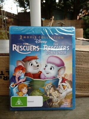 The Rescuers / The Rescuers Down Under  - BLU-RAY - Region Free [New & Sealed]