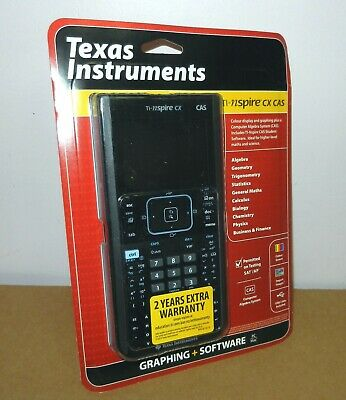 NEW Texas Instruments TI-Nspire CX CAS Calculator Touchpad Handheld Math Science