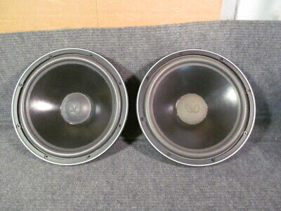 "Pair Infinity 902-2680 SM 120 12"" Woofer ~ 4 Ohms ~ New Foam Surround"