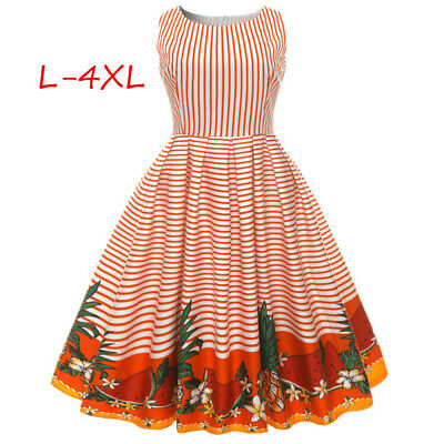 0abc40db5084e RETRO WOMEN'S FLORAL Swing 1950s Housewife Pinup Vintage Rockabilly ...