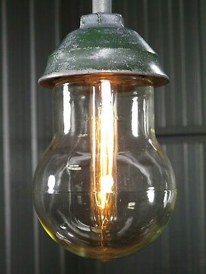 Vtg 50s CROUSE HINDS antique industrial light old VDB CONDULET lamp RESTORED