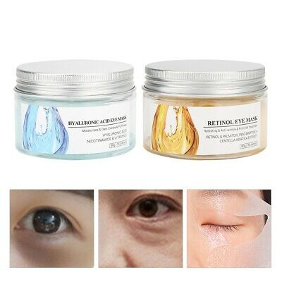 50Pc Collagen Hyaluronic Acid Eye Mask Anti Wrinkle Face Moisture Care Patch Pad