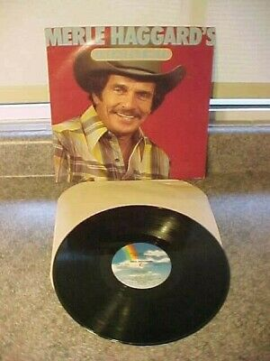 "Merle Haggard ""Greatest Hits"" Vinyl LP Record NM"