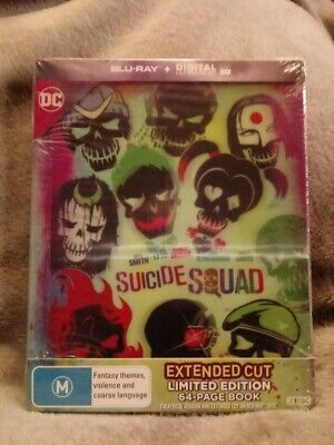 Suicide Squad Limited Edition Blu-ray Region free new/sealed inc 64 page book