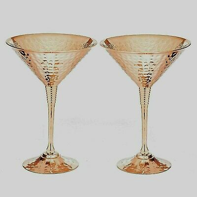f9152b4c19a1 SOLID COPPER MARTINI Glass Beautifully Hammered Martini Glass holds ...