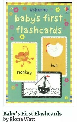 Usborne Baby's First Flashcards Black and White one side / Colour on the other