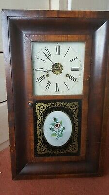 Antique American Jerome & Co Wall Clock for restoration