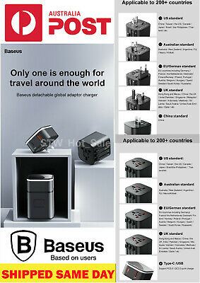 Baseus 7in1 universal travel adapter PPS Lightning type-c Fast Charger Edition