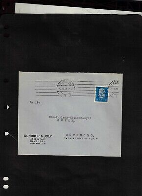 1931 Cover sent from Hamburg to Sweden