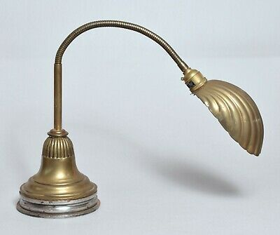 A Genuine Vintage Brass Antique Clam Shell Anglepoise Desk Lamp