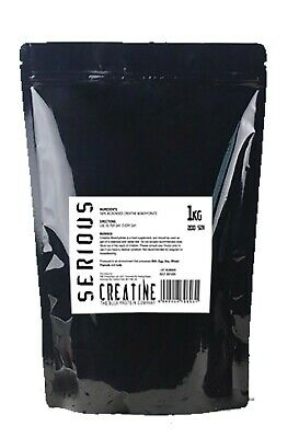 Serious Protein Creatine Monohydrate Powder 1kg Pure Micronised Mass Gainer