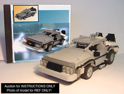 CUSTOM Back To The Future DeLorean Time Machine (Lego Instructions Only!)