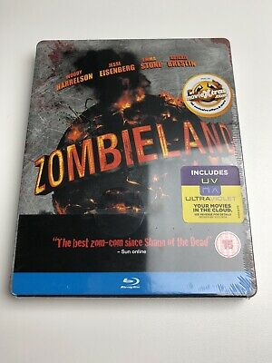 ZOMBIELAND Blu-Ray Steelbook Limited Edition UK Exclusive OOP Brand New Sealed