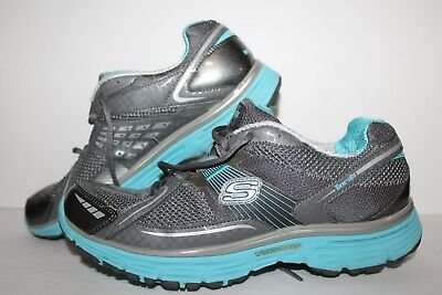 SKECHERS TONE UPS Fitness Shoes, #11751, CharcoalAqua