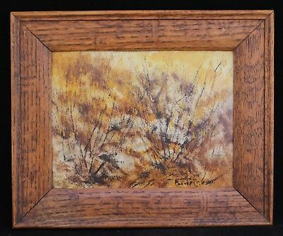 Original Signed Impressionist Oil Painting - Natural Browns