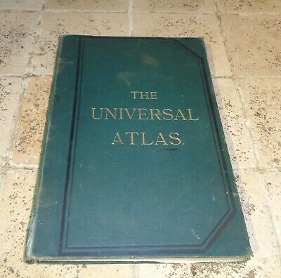 The Universal Atlas 1893 Complete Book Of Coloured Maps