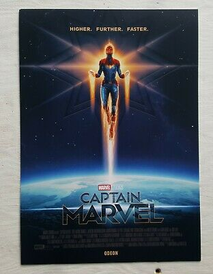 A4 Exclusive Odeon Captain Marvel Poster