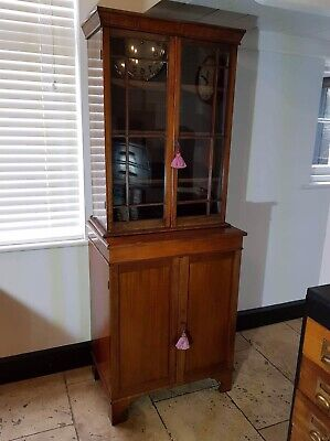 Victorian Mahogany Glazed Bookcase / Dresser/ Display Cabinet