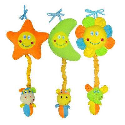 Infant Soothe Intelligent Accompany Toy Baby Star Moon Bed Hanging Toy Rattle OS