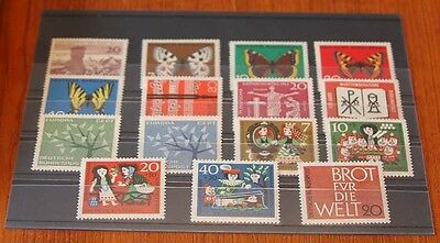 Germany Complete Year 1962 Stamp Set Mint Never Hinged MNH German Stamps