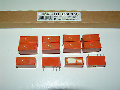 Lot of 5 Schrack RTE24024 Relays Coil: 24VDC Contact Rating: 8A 250VAC DPDT