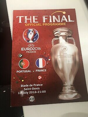Euro 2016 Final Official Match Programme *Portugal V France* (English Language)